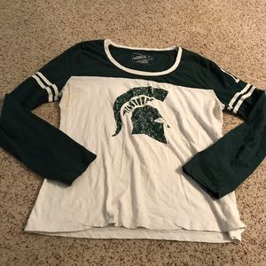 Michigan state university long sleeve graphic tee